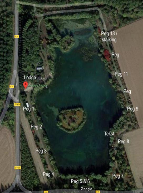 peg overview of la saule paquot carpfishing lake